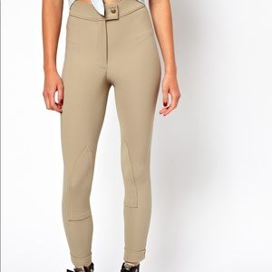 American Apparel High Rise Ribbed Riding Pants